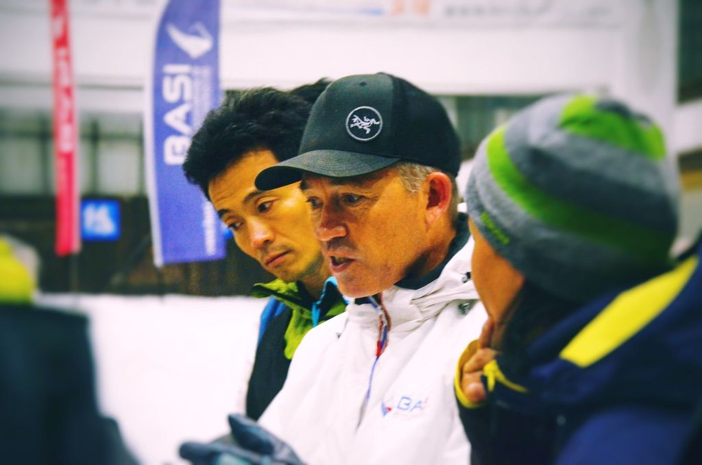 Skiing and training BASI 1 in China