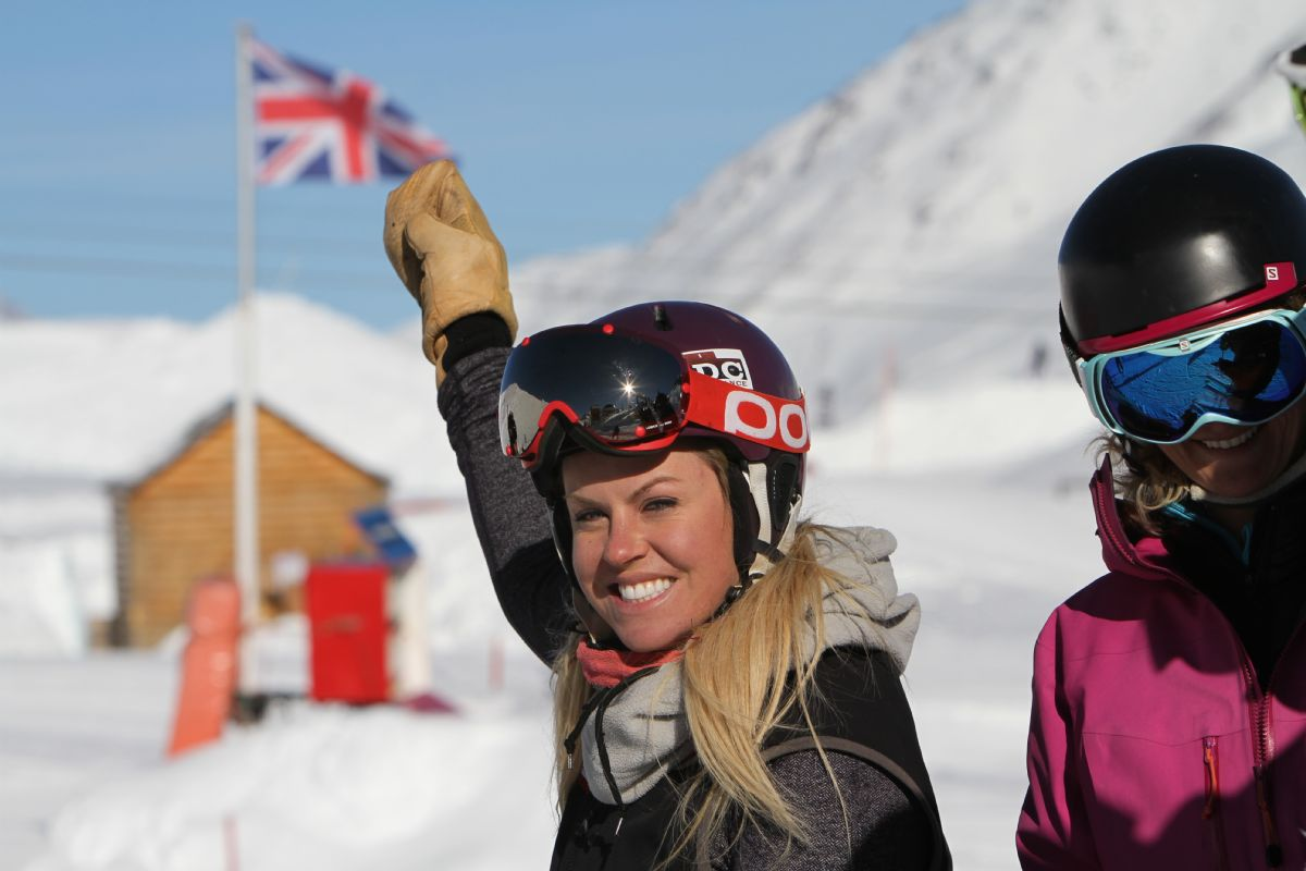 Chemmy Alcott trains the ICE Team
